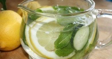 Gurkenwasser mit Zitrone