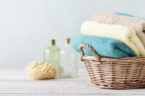 Badetücher waschen