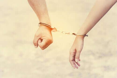 Abhängigkeit-Handfesseln