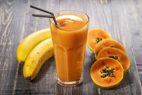 gegen Magengeschwüre helfen - Papaya und Banane