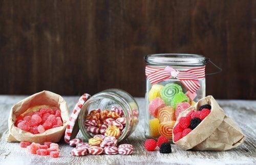 verführerische Bonbons, doch Zuckerverzicht ist wichtig