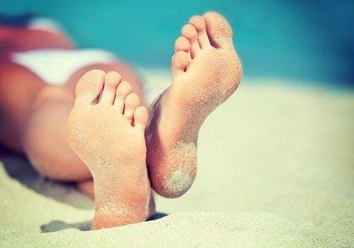 gesunde Füße ohne Plantarwarzen