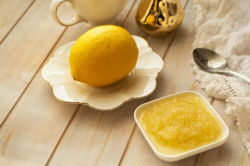 gegen rissige Fersen-Zitrone