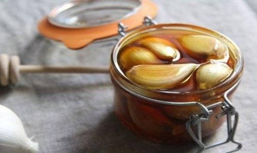 Heilmittel aus Knoblauch und Honig für die Leber