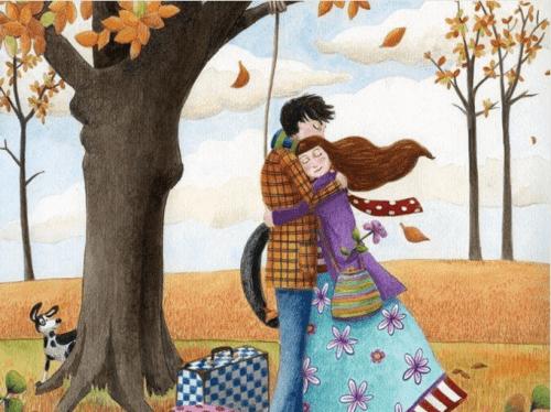 Liebe und Berührung eines Paars