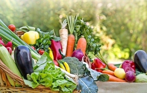 Obst und Gemüse sind gesunde Lebensmittel