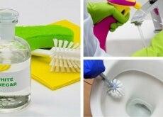 Badezimmer mit weißem Essig reinigen
