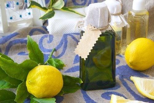 Die Zitronenschale sorgt für angenehmen Duft