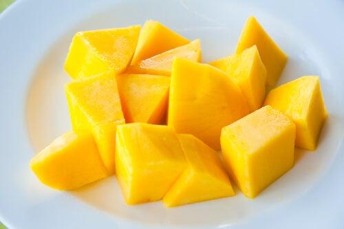 geschnittene Mango