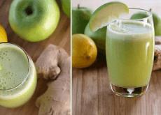 Smoothie-aus-grünem-Apfel-Honig-und-Zitrone-für-deine-Lungen