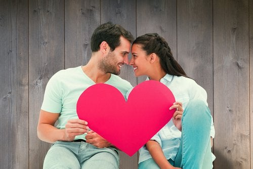 Paar mit Herz