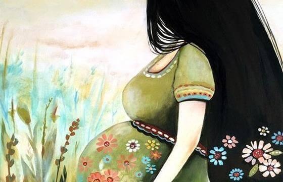 glückliche Frau in der Schwangerschaft