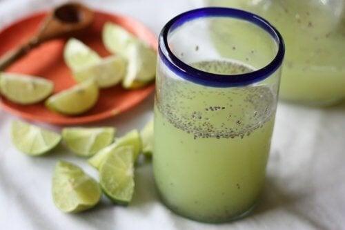 Wasser mit Zitrone und Chia - für Frauen ganz besonders gesund!
