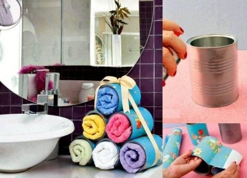 Handtücher Organisieren Im Badezimmer