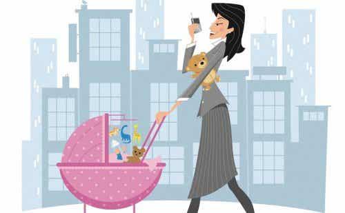 Kinder und Arbeit: der alltägliche Kampf vieler Frauen