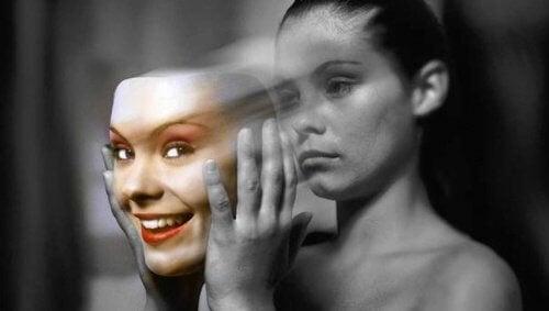 Maske bei Depression