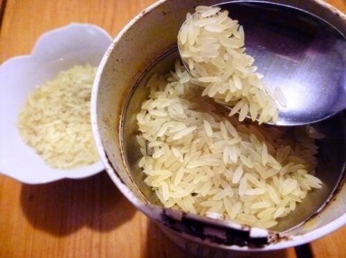 Reis zum Putzen
