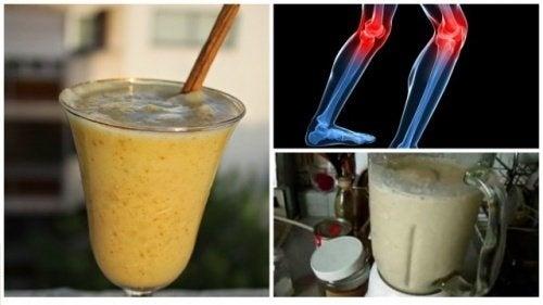 Shake mit Hafer, Ananas und Zimt zur Stärkung der Bänder und Sehnen am Knie