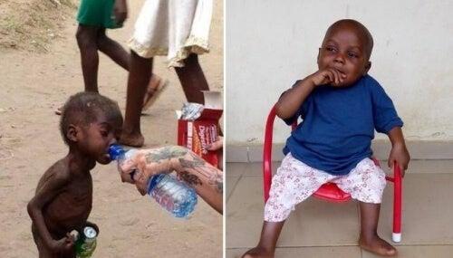 Hope, das nigerianische Baby, das als Hexer ausgesetzt wurde, und seine unglaubliche Verwandlung