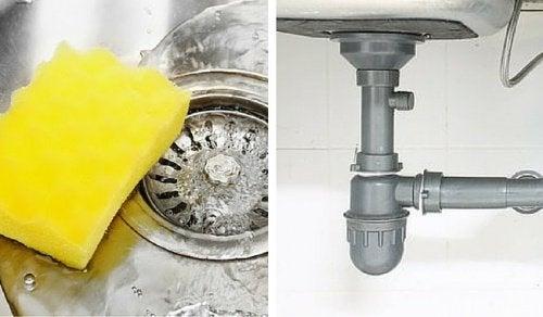 Abflüsse und Küche tadellos sauber halten