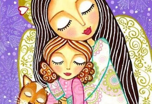 Liebende Mutter und Kind