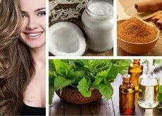 Hausmittel mit Kokos Minze und Zimt für einen besseren Haarwuchs