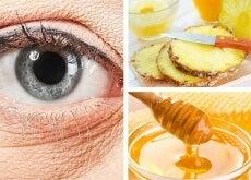 Natürliche Ananas-Maske zur Verminderung von Falten unter den Augen