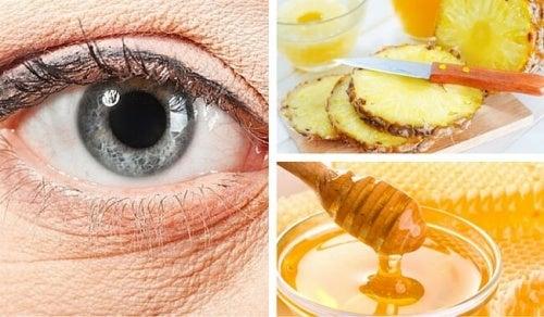Ananas-Maske zur Verminderung von Augenfältchen