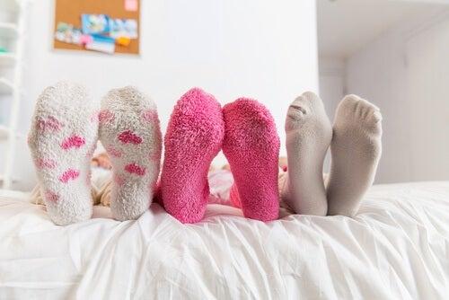 Schlafen mit Socken