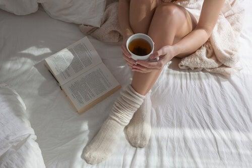 Mit Socken schlafen
