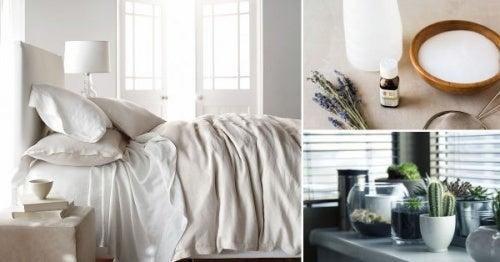 8 Tricks, um dein Schlafzimmer auf natürliche Weise zu desinfizieren