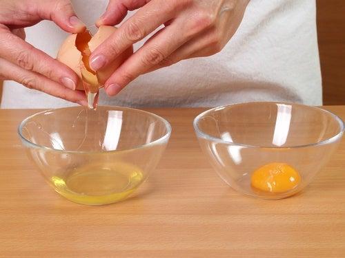 Eier-Gesichtsmaske