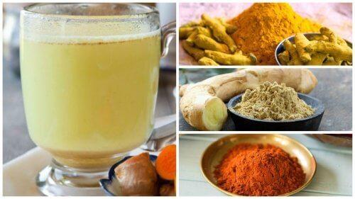 Getränk mit Ingwer, Kurkuma und Cayenne-Pfeffer