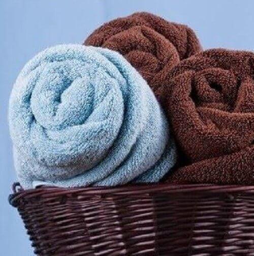 Handtuch im Badezimmer