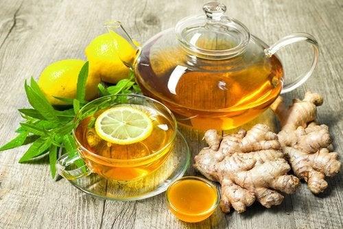 Zitronentee mit Ingwer gegen Verdauungsprobleme