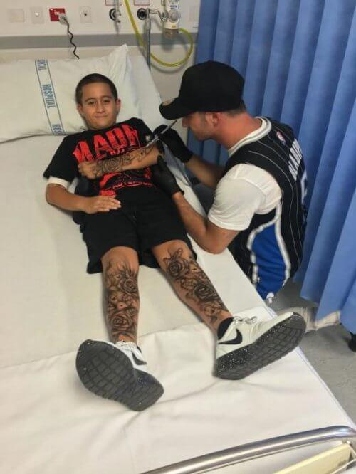 abwaschbares Tattoo für krankes Kind