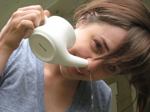 Salzlösung gegen verstopfte Nase
