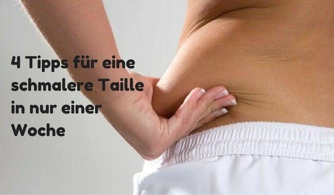 4 Tipps für eine schmalere Taille in nur einer Woche