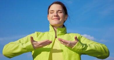 bewusste Atmung gegen eine verstopfte Nase