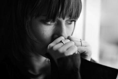 Frau leidet an Depression