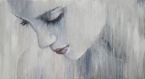 Traurige Frau erwartet sich zu viel