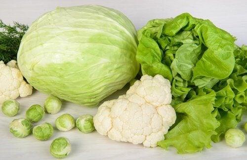 grünes Gemüse für die Leber
