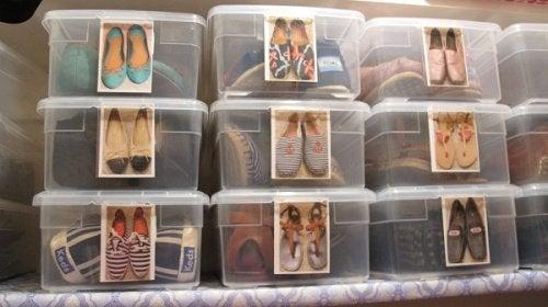 Schuhe -Schachteln