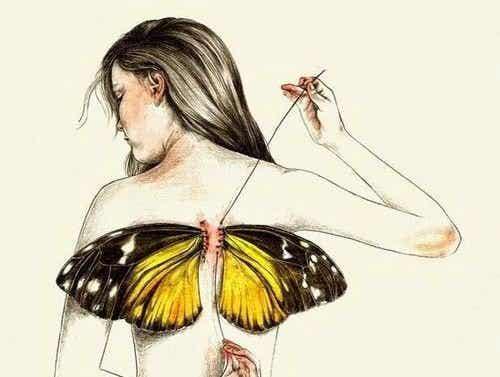Manchmal nimmt uns das Leben unsere Flügel