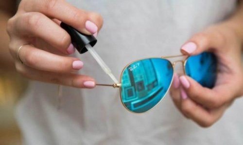 Nagellack für die Brille