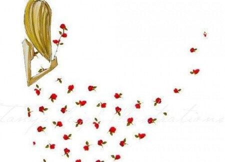 frau-mit-rosen-muss-entscheidungen-treffen