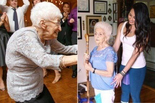 Es ist nie zu spät: Frau beginnt mit 86 Jahren, Yoga zu trainieren