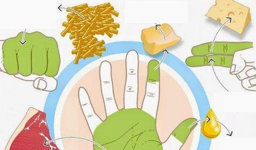 Deine Hände sagen dir, wie viel du essen sollst