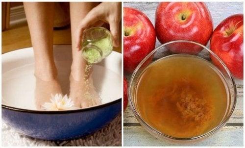Beseitigung aller abgestorbenen Hautzellen und Krankheitserregern an den Füßen