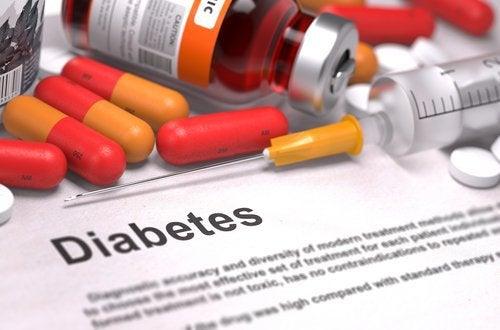 Diabetes und Hautflecken am Hals